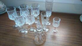 Assortment of chrystal glassware