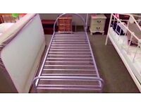 GOOD CONDITION! Nova metal bed frame single bed (silver) ex-display/floor model