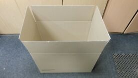 10 brand new cardboard boxes 24 ins long x 8 ins deep x 15.5 ins wide. perfect for moving home