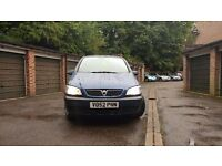 VAUXHALL ZAFIRA 16V CLUB/1.6/LOW MILAGE /7 SEATER/ FRESH MOT £1150