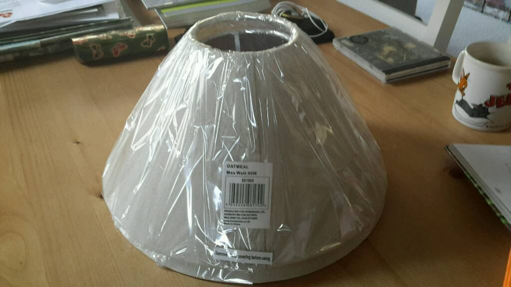 2 x homebase 30cm coolie lamp shades in temple meads bristol 2 x homebase 30cm coolie lamp shades mozeypictures Images