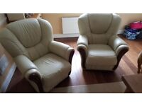 arm chairs leather x2