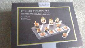 17 piece serving set