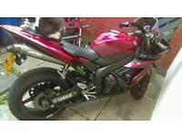 2004 Yamaha R1 lava red.