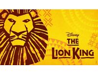 2 Stalls Tickets for Disney's The Lion King At Lyceum Theatre Saturday, 18 September, 2021 7:30 PM