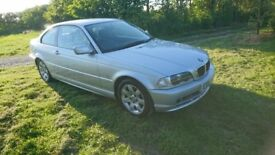 2002 BMW 318Ci coupe, automatic, silver, with good spec - spares/repairs