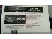 x factor tickets final vip for 2 guests