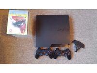 PS3 Slim and 14 games bundle GTA V, COD, Battlefield 4 ...