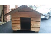 Hand made rustic style dog kennel