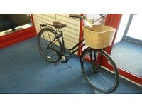 LADIES PROBIKE VINTAGE STYLE WITN BASKET AND RARELY USED FROM NEW