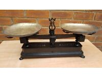 VINTAGE ANTIQUE FRENCH KITCHEN WEIGHING SCALES 20KG
