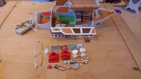 Sylvanian Boat and accessories
