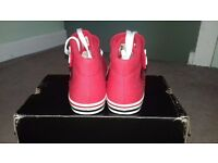 DC SHOES VENICE MID CANVAS TRAINERS WOMEN SHOES RED/WHITE 301942