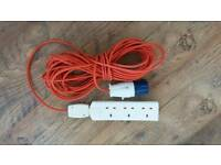 Used 8 metre camping electric hook up