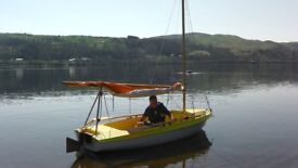 Skipper Dinghy 12 ft can be rowed, sailed, or used with outboard. including trailer.