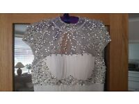 ABSOLUTELY STUNNING WHITE WEDDING/EVENING DRESS SIZE 12