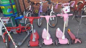 Kids bikes, various sizes and Styles RETRO VINTAGE MODERN Vélos pour enfants - PEUGEOT GARNEAU RALEIGH Muscle BMX CCM