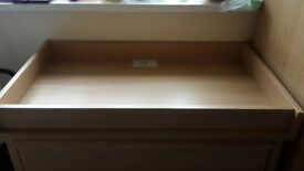 Baby changing Table with drawers.