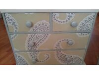 Beautiful Upcycled Chest of Drawers