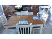 Extending table 4 chairs, matching console table.