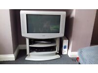 Tv, stand, skyplus box and dvd player £15