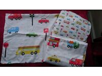 Single duvet cover set including matching fitted sheet