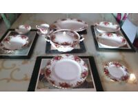 Bargain Offer! Exquisite Dinner Set - Royal Albert Old Country Roses English China