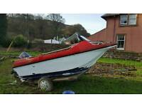 Boat with 50 hp 2 stroke out board