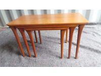 Danish Retro Teak Nest Of 3 Side Tables,can deliver