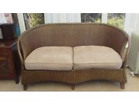 M&S Cain sofa with cushion seat