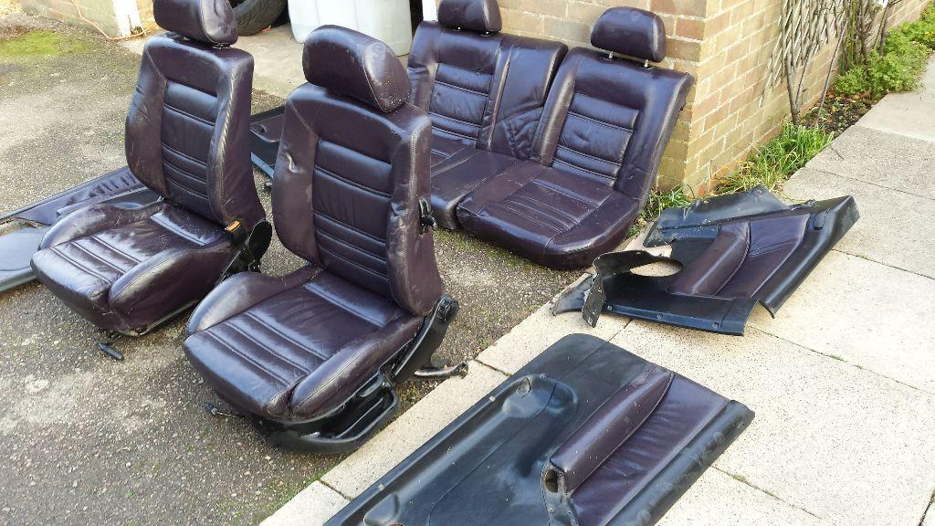 Mk3 Golf Gti Mulberry Leather Interior Seats Mk2 Golf