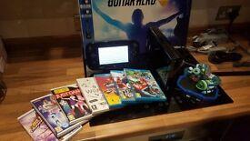 Nintendo Wii U Premium 32GB Black Console & Games New Mario Kart 8 Guitar Hero Bundle PS4 Xbox One