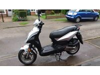 SYM SYMPLY 50cc Moped 65 plate registered new Jan 2016