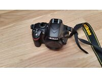 NIKON 3200 DSLR With lens and Lowpro Case