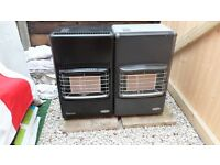 Two Bosch calor gas heaters with bottles