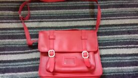 Satchel red top shop as new collect only