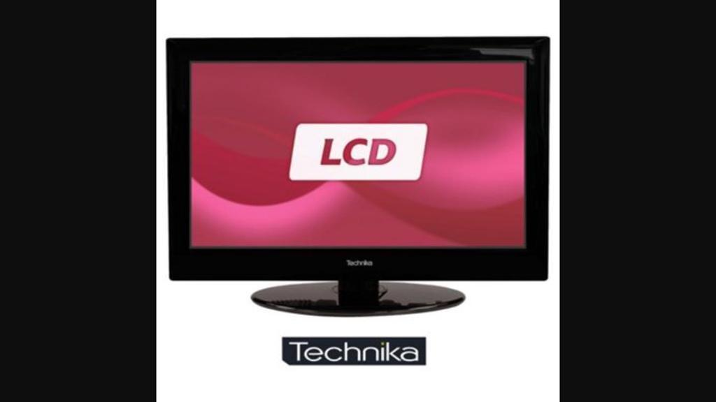"""TECHNIKA 22"""" LCD HD TV BULIT IN DVD AND FREEVIEW"""
