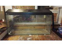 Large Aquarium with stand and cold water accessories for sale