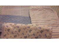 Baby Blankets Blue x 4