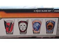 4 star wars drinking glasses
