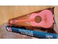 """Pink 30"""" kids guitar"""