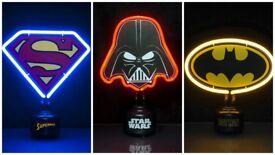 Neon Lights Batman/Superman/Darth Vader