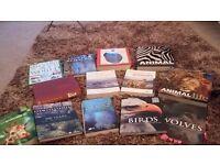 Various animal books for sale.