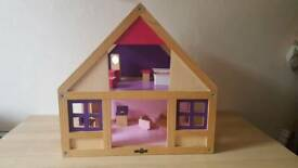 Wood house for dolls