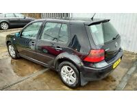 2001 VW GOLF 1.9 TDI TURBO DIESEL 5 DRS BLACK GREAT CAR WITH WARRANTY