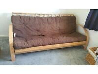 Kyoto Futon Limited. Brown Futon. Very Good Condition