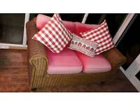 NEXT Rattan 2 seater sofa