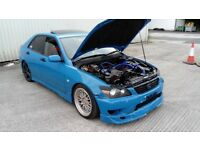 Supercharged Lexus IS200 modified drift track   Is not altezza jdm px swap