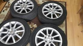 Seat Leon 16inh alloys set of 4 +tires