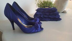 Ladies Purple Shoes Size 6 Inc Evening Bag